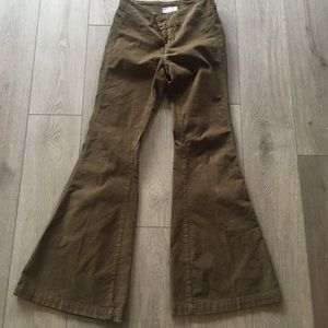 Free people wide flare corduroys W28